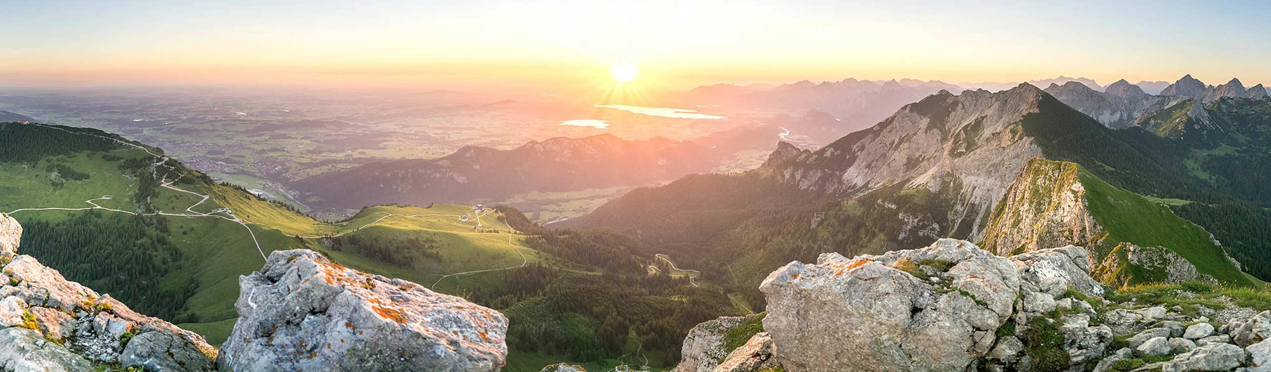 Sonnenaufgang auf dem Aggenstein